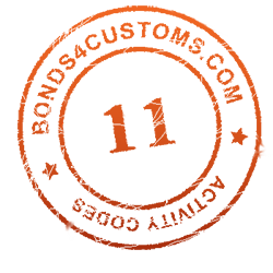 customs bond activity code 11