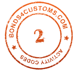 customs bond activity code 2