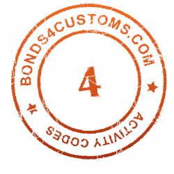 customs bond activity code 4